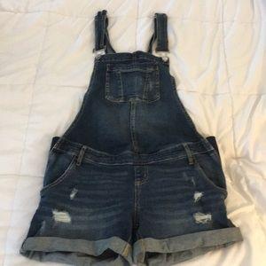Maternity overalls - shorts